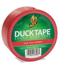 """DuckTape 1.88"""" x 20 yds Colored Duct Tape, 3"""" Core, Red"""