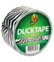 "DuckTape 1.88"" x 10 yds Colored Duct Tape, 3"" Core,  Zebra"