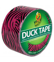 "DuckTape 1.88"" x 10 yds Colored Duct Tape, 3"" Core,  Pink Zebra"