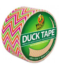 "DuckTape 1.88"" x 10 yds Colored Duct Tape, 3"" Core, Neon Zig Zag"
