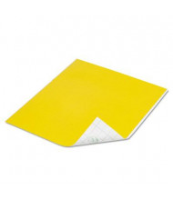 """DuckTape 8 1/2"""" x 10"""" Tape Sheets, Yellow, 6/Pack"""