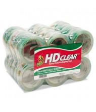 "Duck 1.88"" x 55 yds Heavy-Duty Carton Clear Packaging Tape, 3"" Core, 24-Pack"