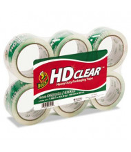 "Duck 1.88"" x 55 yds Heavy-Duty Carton Clear Packaging Tape, 3"" Core, 6-Pack"
