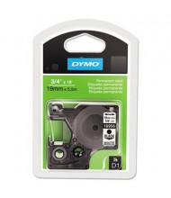 """Dymo D1 16956 Polyester 3/4"""" x 18 ft. Label Maker Tape, Black on White"""