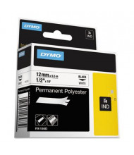 "Dymo Rhino 18483 Poly 1/2"" x 18 ft. Industrial Label Cartridge, White"