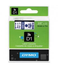 """Dymo D1 40914 Polyester 3/8"""" x 23 ft. Label Maker Tape, Blue on White"""