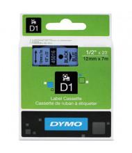"""Dymo D1 45016 Polyester 1/2"""" x 23 ft. Label Maker Tape, Black on Blue"""