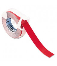 """Dymo 520102 Glossy 3/8"""" x 9-3/4 ft. Glossy Label Tape for Embossers, Red"""
