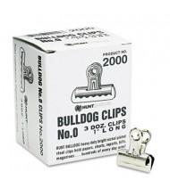 """X-Acto 5/16"""" Capacity Nickel-Plated Bulldog Clips, 36/Box"""