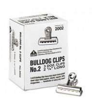 """X-Acto 1/2"""" Capacity Nickel-Plated Bulldog Clips, 36/Box"""