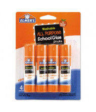Elmer's .24 oz Washable All Purpose School Glue Sticks, 4/Pack