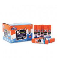 Elmer's .24 oz Washable School Glue Sticks, Purple Application, 30/Box