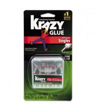 Krazy Glue .017 oz Single-Use Super Glue Tubes with Storage Case, 4/Pack
