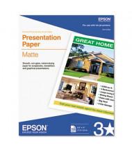 "Epson 8-1/2"" X 11"", 27lb, 100-Sheets, Matte Presentation Paper"