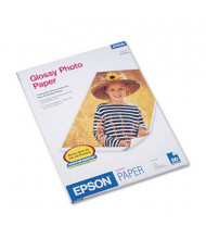 "Epson 8-1/2"" X 11"", 52lb, 20-Sheets, Glossy Photo Paper"