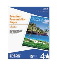 "Epson Premium 8-1/2"" X 11"", 45lb, 50-Sheets, Matte Presentation Paper"