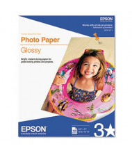 "Epson 8-1/2"" X 11"", 52lb, 100-Sheets, Glossy Photo Paper"