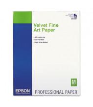 """Epson 17"""" X 22"""", 25-Sheets, Velvet Fine Art Paper"""