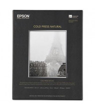 "Epson 8-1/2"" x 11"", 19 mil, 25-Sheets, Cold Press Natural Fine Art Paper"