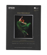 "Epson 8-1/2"" x 11"", 21 mil, 25-Sheets, Cold Press Bright Fine Art Paper"