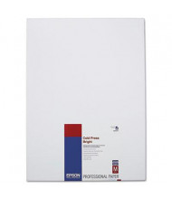 "Epson 13"" x 19"", 21 mil, 25-Sheets, Cold Press Bright Fine Art Paper"