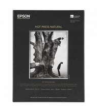 "Epson 8-1/2"" x 11"", 17 mil, 25-Sheets, Hot Press Natural Fine Art Paper"