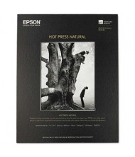 "Epson 17"" x 22"", 17 mil, 25-Sheets, Hot Press Natural Fine Art Paper"