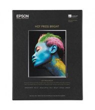 "Epson 8-1/2"" x 11"", 17 mil, 25-Sheets, Hot Press Bright Fine Art Paper"