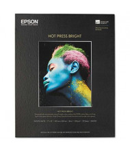 "Epson 17"" x 22"", 17 mil, 25-Sheets, Hot Press Bright Fine Art Paper"