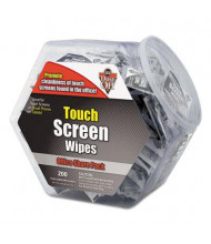 Falcon Dust-Off Touch Screen Wipe Packages, 200/Pack