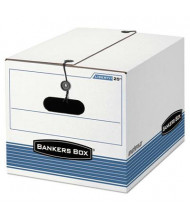 "Bankers Box 12"" x 15-1/2"" x 10-1/4"" Letter & Legal Tie Closure Storage Boxes, 4/Carton"