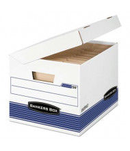 "Bankers Box 12-1/8"" x 15"" x 10"" Letter & Legal FastFold Flip Top File Storage Boxes, 12/Carton"