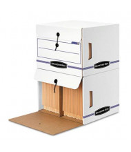 "Bankers Box 15-1/4"" x 13-1/2"" x 10-3/4"" Letter Side-Tab File Storage Boxes, 12/Carton"