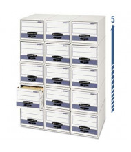"Bankers Box 9-1/4"" x 23-1/4"" x 4-3/8"" Check Size Storage Drawers, 12/Carton"
