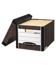 "Bankers Box 12"" x 15"" x 10"" Letter & Legal R-Kive Max Storage Boxes, 12/Carton, Woodgrain"