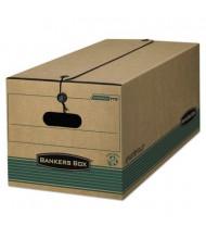 "Bankers Box 15"" x 24"" x 10"" Legal Stor/File String Button Storage Boxes, 12/Carton"