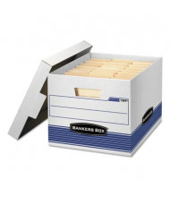 """Bankers Box 12"""" x 15"""" x 10"""" Letter & Legal Quick/Stor Storage Boxes, 4/Carton"""