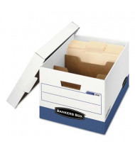 "Bankers Box 12"" x 15"" x 10"" Letter & Legal R-Kive Max Storage Boxes, 12/Carton, White/Blue"