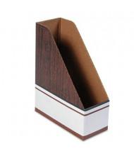 Bankers Box Corrugated Cardboard Magazine File, Wood Grain, 12/Pack