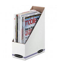 Bankers Box Stor/File Corrugated Magazine File, White, 12/Pack