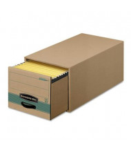 "Bankers Box 12-1/2"" x 23-1/4"" x 10-3/8"" Letter Storage Drawers, 6/Carton, Kraft"