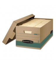 "Bankers Box 12"" x 24"" x 10"" Letter Locking-Lid Stor/File Storage Boxes, 12/Carton"