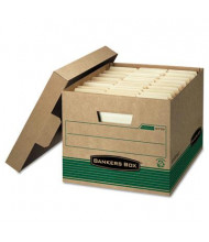"Bankers Box 12"" x 15"" x 10"" Letter & Legal Stor/File Extra Strength Storage Boxes, 12/Carton"