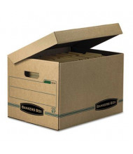 """Bankers Box 12"""" x 15"""" x 10"""" Letter & Legal Stor/File Attached Lid Storage Boxes, 12/Carton"""