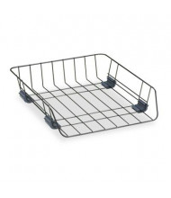 """Fellowes 2-5/8"""" H Workstation Front-Load Wire Desk Letter Tray, Black"""