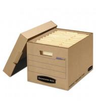 "Bankers Box 12"" x 15"" x 10-3/4"" Letter & Legal Locking Lid File Storage Boxes, 25/Carton"