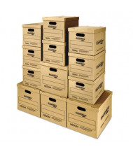 Bankers Box SmoothMove Classic Small & Medium Moving & Storage Boxes, 12-Boxes