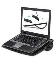 """Fellowes 5/16"""" H Non-Skid Laptop Riser, Black"""