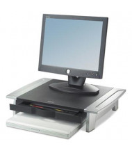 "Fellowes Office Suites 4"" to 6-1/2"" H Standard Monitor Riser, Black/Silver"