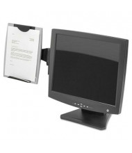 Fellowes 150-Sheet Capacity Monitor Mount Plastic Freestanding Copyholder, Black/Silver